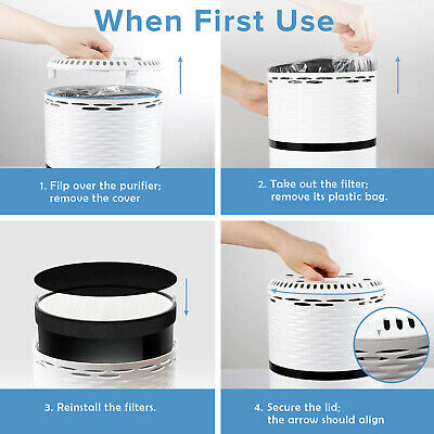 Portable Air Purifier Freshener Carbon HEPA Filter Ioniser odor cleaner 220v AU 7