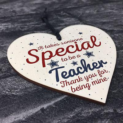 Handmade Hanging Heart Gift For Teacher Leaving Present Thank You Gifts Keepsake 8