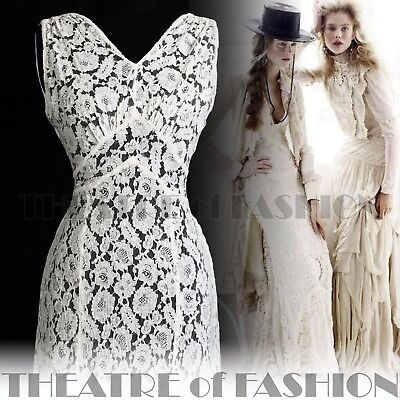 DRESS 30s WEDDING LACE JACKET 20s VINTAGE 40s GATSBY DECO CROCHET GODDESS ICON 7