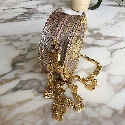 7b26c7869d9c ... GIANNI VERSACE COUTURE metallic pink snakeskin round evening bag w   chain Medusa 4