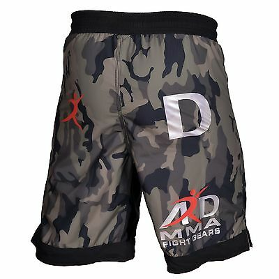 4Fit™ Yellow Camo Pro MMA Fight Shorts Camouflage UFC Cage Fight Grappling