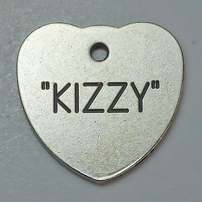 Quality Engraved Pet tag  - Mini  20mm Heart Nicron tag 2