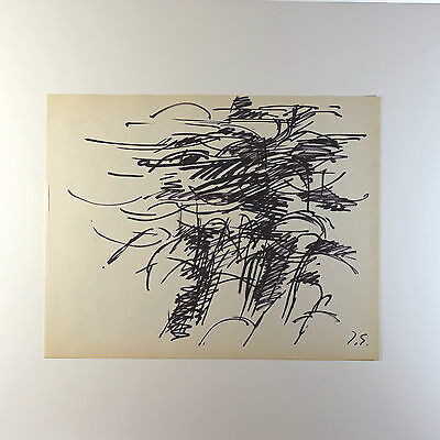 Original Tinta sobre Papel Dibujo por Francesa Lista Artista Jacques Germain ( 4