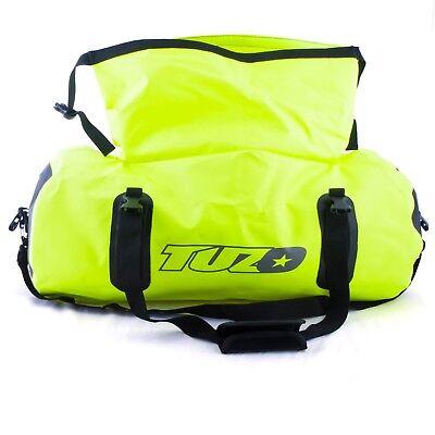 50L Motorcycle Luggage Duffel Holdall Waterproof Roll Shut Bag Flo Yellow 3
