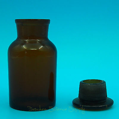 250ml Amber Glass Reagent bottle,Wide mouth,with ground stopper,None Graduation 2