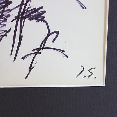 Original Tinta sobre Papel Dibujo por Francesa Lista Artista Jacques Germain ( 5