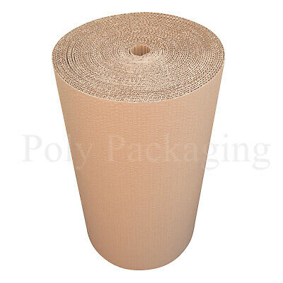 450mm x 25m CORRUGATED CARDBOARD PAPER ROLLS Postal Packaging Wrapping Parcels 4