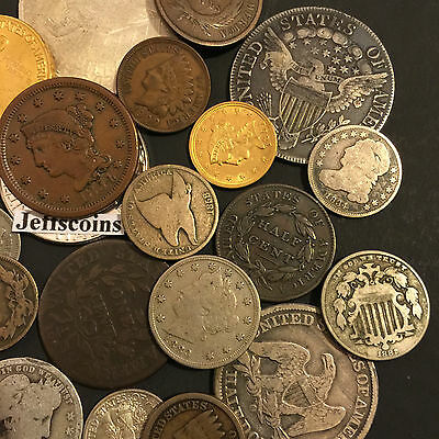 ✯Estate Sale Lot Old Us Coins✯ Money✯Gold Silver✯Big Value Collection 50 Years+✯ 7