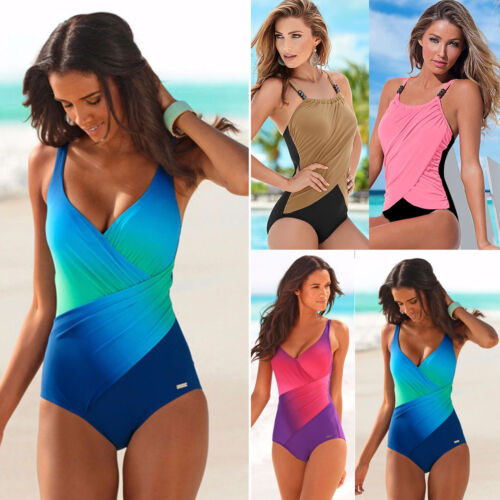 Women's One Piece Swimwear Monokini Swimsuit Push Up Bathing Bikini Beachwear