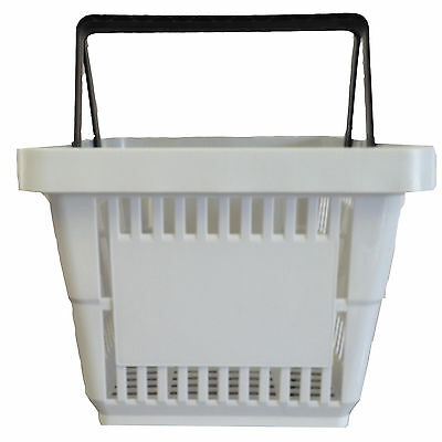 2 Handle Grey Plastic Shopping Basket Retail Supermarket Use Hand Carry 2