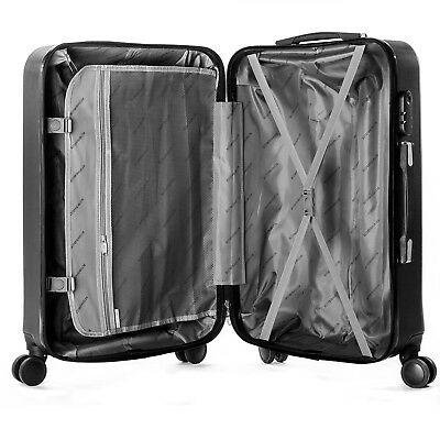 """4 Piece ABS Luggage Set Light Travel Case Hardshell Suitcase 16""""20""""24""""28"""" 9"""
