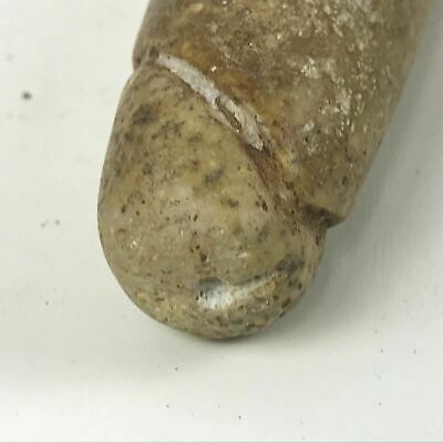 Authentic Pre-columbian Mayan Figural Carved Stone Penis Artifact #39 6