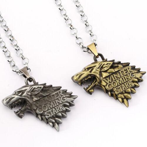 Game of Thrones House Stark Targaryen Dragon Chain Pendant Necklace Jewelry Gift 5