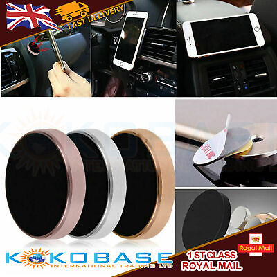 In Car Magnetic Phone Holder Fits Dashboard Universal Mount Various Colours 2