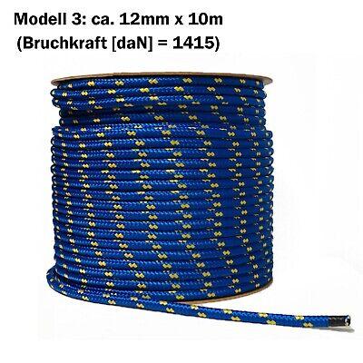 200m SEIL Polypropylen 2mm schwimmfähig Tauwerk Tau Kunststoffseil Seil SCHWARZ