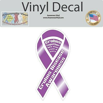 """Lung Cancer Awareness Ribbon Vinyl Decal You Choose Size 4/""""-54/"""""""