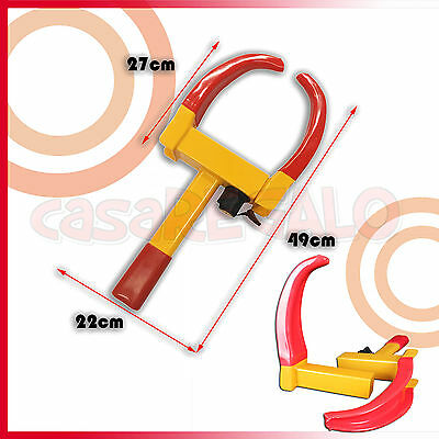 Wheel Lock Clamp Heavy Duty Anti-theft For Vehicle Car Trailer with 2 Keys 2
