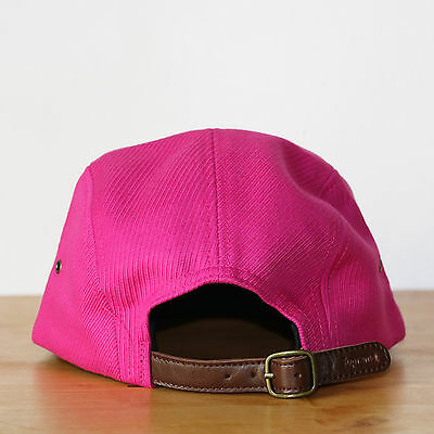 e2d8a893e24 ... Supreme 5 panel Washed Cavalry Twill Camp Cap Magenta Casquette Box Logo  3