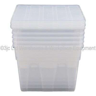 Spacemaster Clear Plastic Storage Box Boxes With Lids Removals House Home Garage 3