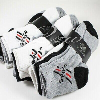 Lot 6-12 Pair Men Women Ankle Quarter Low Cut Crew Cotton Socks Sport 9-11 10-13 2