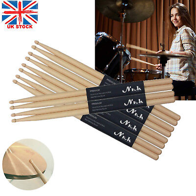 10 Pairs Drum Sticks 5A Drumsticks Maple High Quality Wood Feel Johnny Brook UK 2
