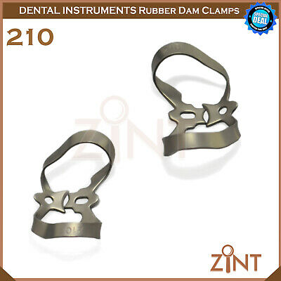 Rubber Dam Universal Clamps Upper & Lower Premolar Anterior Medesy Basic Set New 9