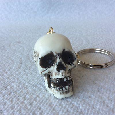 Made in USA Skull Keychain Keyring Hot Rat Street Rod shift Skeleton knob 19-KC