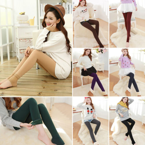 Women Winter Thermal Thick Fleece Skinny Slim Fit Leggings Stretch Pants Trouser 4