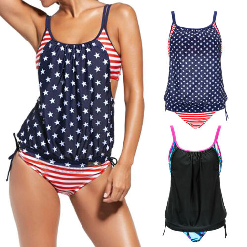 54726933ce Femme Sporty Tankini Short Garçon Ensemble Bikini Maillot de Bain Plage 7 7  sur 12 ...