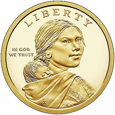 2018 S Reverse Native American Sacagawea New Gold Dollar $1 US Mint Set Via 18XC