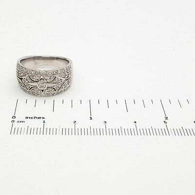 Ladies Dress Ring 18ct (750, 18K) White Gold 0.55ct Natural Diamond Ring