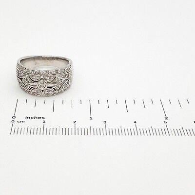 Ladies Ring 18ct (750, 18K) White Gold (0.55ct) Natural Diamond Dress Ring 8