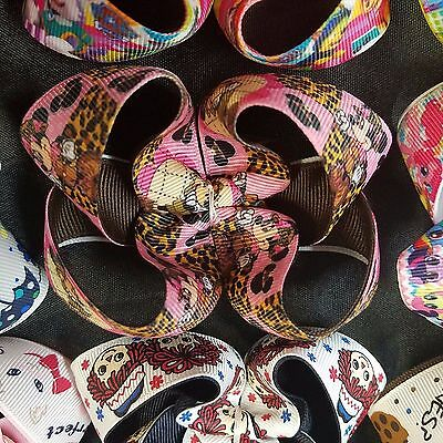 "Lot of 20 4/"" unfinished twisted boutique bows TBB Frozen Shopkins Sophia etc"