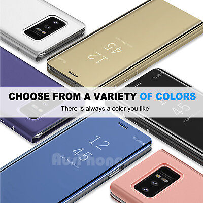 Galaxy S9 S8 Plus Note 9 S7 A8 J5 J2 Pro J8 Cover Mirror Flip Case for Samsung 9