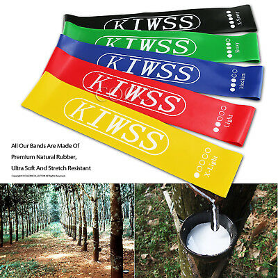 Resistance Bands Set of 5 for Exercise Men and Women Legs Arms Booty Yoga Physio 4