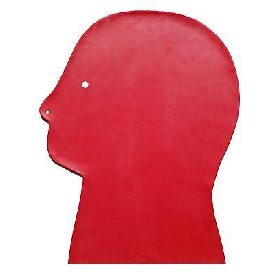 Latex-Maske aus Gummi in rot, Einheitsgröße 7