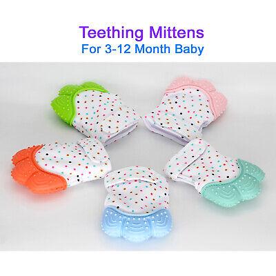 Silicone Baby Teether Teething Mitten Mitt Glove Safe BPA Free Chew Dummy Toy 3