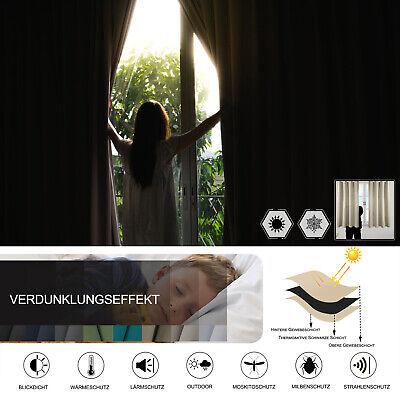 Gardinen Vorhang blickdicht mit Kräuselband Thermo Verdunkelung 250g/m2 #330-a 2