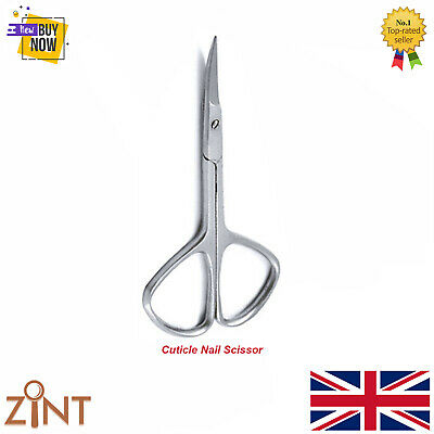 Super Sharp Curved Edge Cuticle Nail Scissors Arrow Point Silver Stainless Steel 2