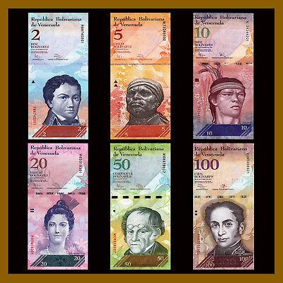 Venezuela 2 -100,000 Bolivares & 2-500 Soberano (21 Pcs Full Set) 2007-2018 Unc 2