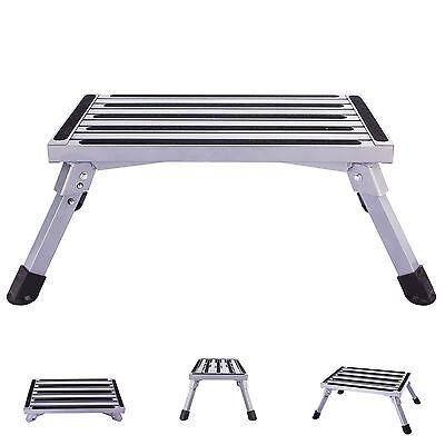 Outstanding Folding Aluminum Platform Step Stool Rv Trailer Camper Inzonedesignstudio Interior Chair Design Inzonedesignstudiocom