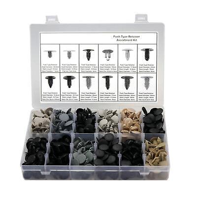 587 Auto Clips+Tool Push Rivet Pin X-Mas Tree Type Retainer Plastic Fastener Kit