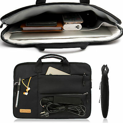 Shockproof 13 14 15.6'' Laptop Sleeve w/4 zipper Pocket&Handle Notebook Bag Case 6