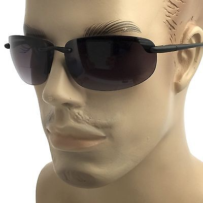 dd09b13c4c86 ... Wrap Rimless Bifocal Sunglasses Sport Sun Reader Reading Glasses Men  Women 1.5 2 2