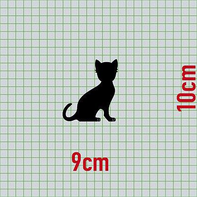 2 Katzen rechts + Pfötchen schwarz Aufkleber Tattoo Deko Folie Auto Balkon Tür 3