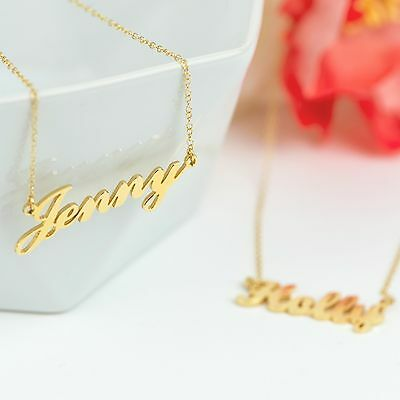 """18K Gold PlatedChristmas Appreciation Stylish Name Necklace /""""MARIA/"""""""