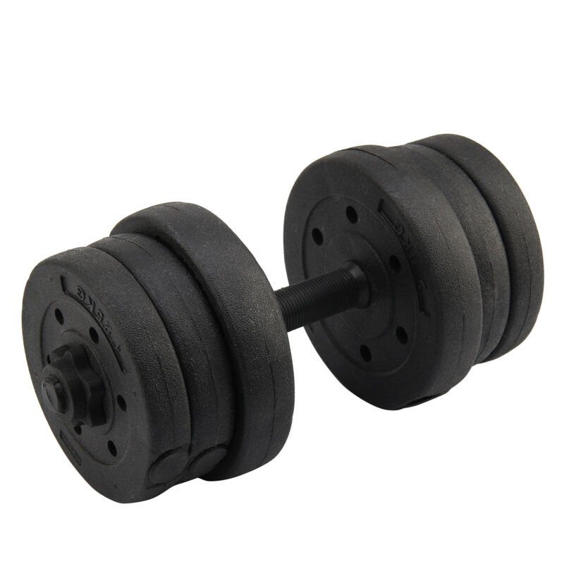 20KG Weights Dumbbell Set Gym Workout Fitness Biceps Home Sport Training 6