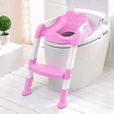 Children Baby Toddler Kid Potty Training Toilet Seat Trainer Urinal Chair Ladder 3