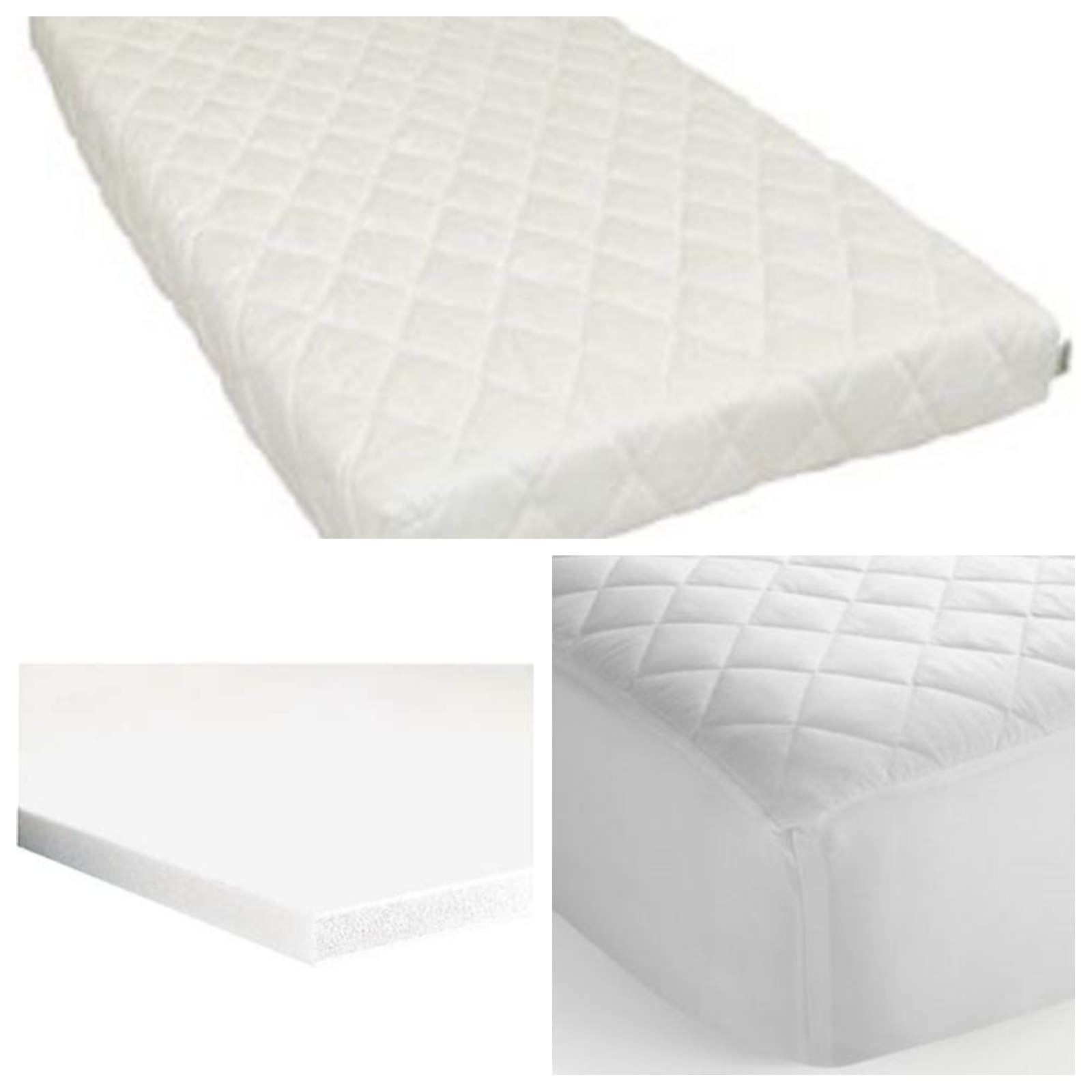 Crib Mattress 90x40x5 / 89x38x5 Extra Thick Cushy Comfy Made in England A+Grade 2