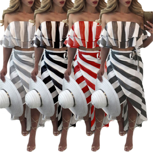Damen Bandeau Sommerkleid Boho Rusche Maxikleider Lang Party Wrap Strand Kleider Eur 13 99 Picclick De